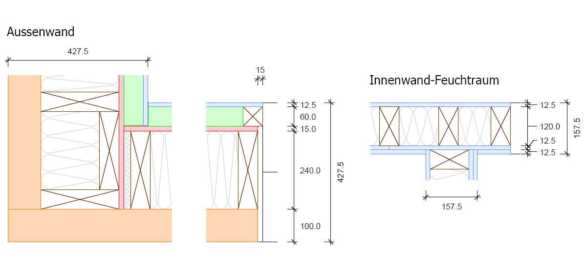 Holzrahmenbau Eckverbindung