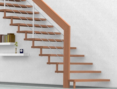 Good Stairs Software Must Be Able To Handle This Type Of Stairs   So That  Nothing Goes Wrong With Self Supporting Stairs.
