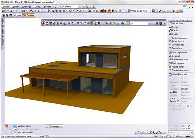 logiciel d architecture maison ossature bois logiciel de construction de maison. Black Bedroom Furniture Sets. Home Design Ideas